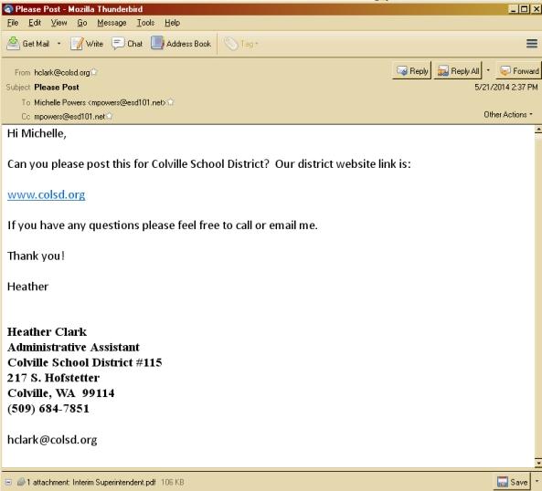 2014-.05-21 Heather to ESD Job postingjpg